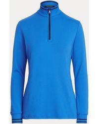 Ralph Lauren Golf Performance Jersey Quarter-zip - Blue