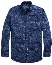 Pink Pony Classic Fit Paisley Shirt - Blue