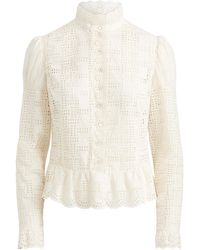 Ralph Lauren Bernice Embroidered Blouse - White