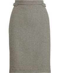 Polo Ralph Lauren - Houndstooth Tweed Pencil Skirt - Lyst