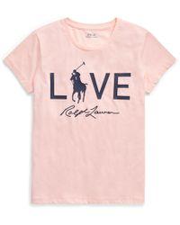 Ralph Lauren - Pink Pony Love Graphic T-shirt - Lyst
