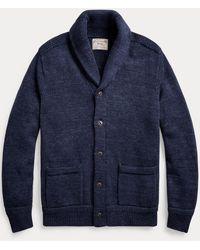 Polo Ralph Lauren Cardigan à col châle en coton - Bleu