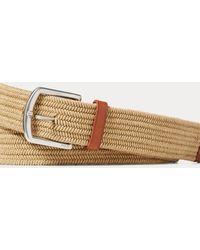 Polo Ralph Lauren Cinturón De Algodón Elástico Trenzado - Marrón