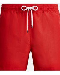 Polo Ralph Lauren Slim-Fit-Badeshorts - Rot