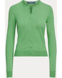Ralph Lauren Cardigan en soie naturelle - Vert