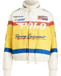 Polo Ralph Lauren Rennjacke aus Baumwollsegeltuch - Gelb