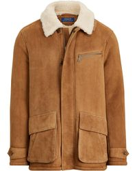 Ralph Lauren Shearling Car Coat - Brown