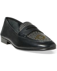 Polo Ralph Lauren - Ashtyn Studded Leather Loafer - Lyst