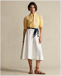 Polo Ralph Lauren Camicetta in lino vichy - Giallo