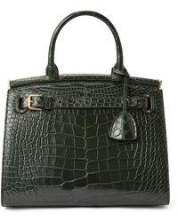 Ralph Lauren Alligator Medium Rl50 Handbag - Green