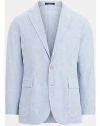 Polo Ralph Lauren Seersucker Suit Jacket - Blue