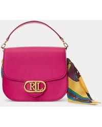 Ralph Lauren Bolso Addie Cruzado Con Estampado - Rosa