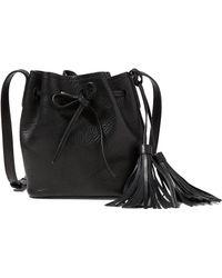 Polo Ralph Lauren Mini Leather Bucket Bag - Black