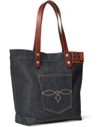 Denim Tote - Blue