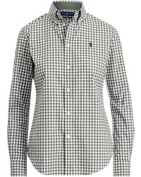 Polo Ralph Lauren - Slim Fit Gingham Poplin Shirt - Lyst