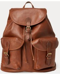 Polo Ralph Lauren Heritage Leather Backpack - Brown