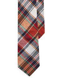 Polo Ralph Lauren Madras Narrow Tie - Blue