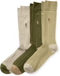 Polo Ralph Lauren | Soft-touch Trouser Sock 3-pack | Lyst