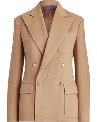 Ralph Lauren - Caley Camel-hair Jacket - Lyst
