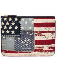 Ralph Lauren - Flag Canvas Zip Pouch - Lyst