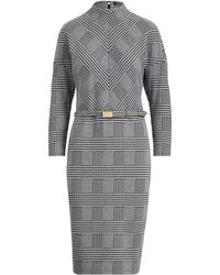 Ralph Lauren - Glen Plaid Mockneck Dress - Lyst
