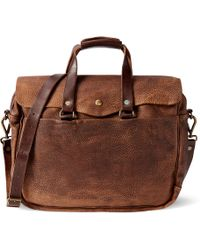 f7212dbfb6 RRL Leather Rockport Duffel in Brown for Men - Lyst
