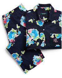 Ralph Lauren - Floral Cotton Pajama Set - Lyst