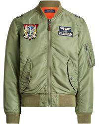 Ralph Lauren Twill Bomber Jacket - Green