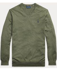 Ralph Lauren Maglia con scollo a V in cotone - Verde