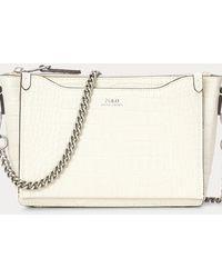Polo Ralph Lauren Tracolla Sloane mini goffrata - Bianco