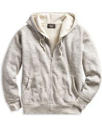 RRL - Fleece Full-zip Hoodie - Lyst