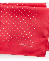 Ralph Lauren Purple Label Pañuelo De Bolsillo De Seda - Rojo