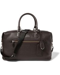 Polo Ralph Lauren - Pebbled Leather Duffel Bag - Lyst