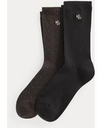 Ralph Lauren Due paia di calze lunghe stretch - Nero