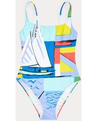 Polo Ralph Lauren Graphic-print One-piece - Blue