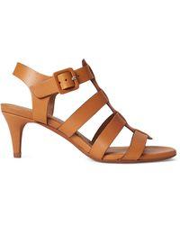 Ralph Lauren Vachetta Leather Sandal - Brown