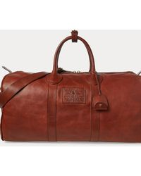 Polo Ralph Lauren Heritage Leather Duffel - Red