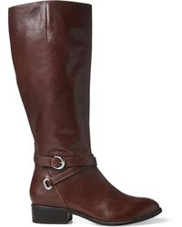 Ralph Lauren - Madisen Leather Boot - Lyst