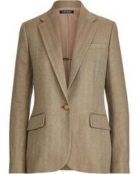 Ralph Lauren - Herringbone Tweed Blazer - Lyst