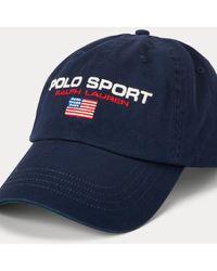 Polo Ralph Lauren Casquette de baseball chino Polo Sport - Bleu