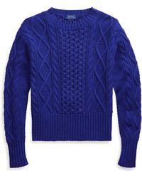 Ralph Lauren Cable-knit Cotton Sweater - Blue
