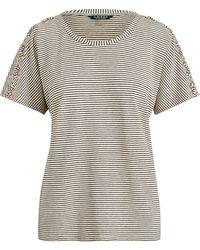 Lauren by Ralph Lauren - Lace-up-placket T-shirt - Lyst