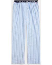 Polo Ralph Lauren Pantaloni da pigiama in twill di cotone - Blu