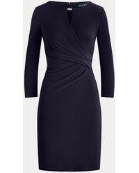 Ralph Lauren Wrap-style Jersey Dress - Blue