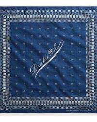 RRL Bandana in cotone con logo - Blu