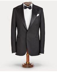 RRL Lightweight Wool Tuxedo Jacket - Black