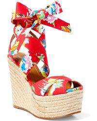 Polo Ralph Lauren Ethne Floral Mesh Espadrille - Multicolor