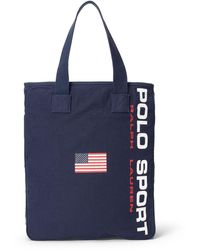 Polo Ralph Lauren - Navy Canvas Polo Sport Tote - Lyst