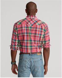 Ralph Lauren Camisa Western De Madrás - Multicolor