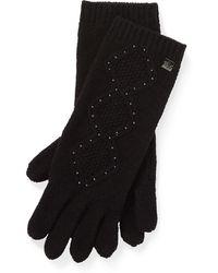 Ralph Lauren Cable-knit Tech Gloves - Black